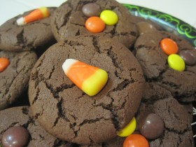 Choc Candy Corn Cookies 07
